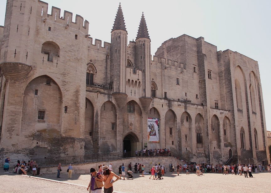 The Palais des Papes, where 7 French born Popes lived in the 1300's