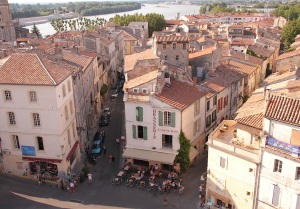 Arles rooftops from the top of the amphitheater