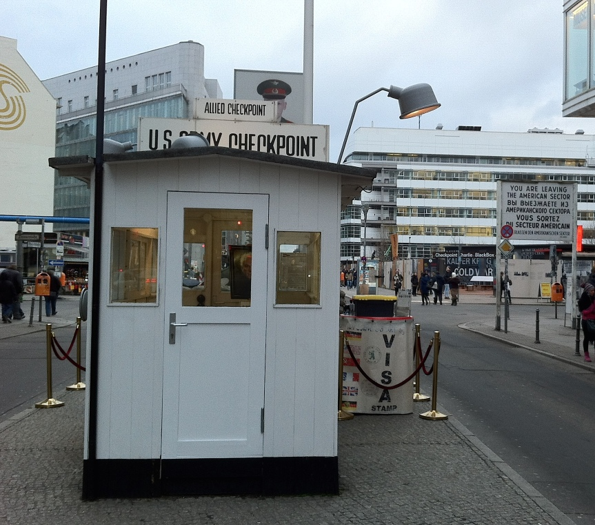 Checkpoint Charlie nowadays is simply a tourist attraction with fake soldiers spoiling the photographic opportunities
