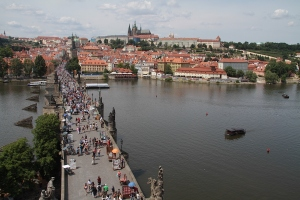 The Prague bridge and castle