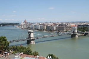 Budapest, the Széchenyi Chain Bridge