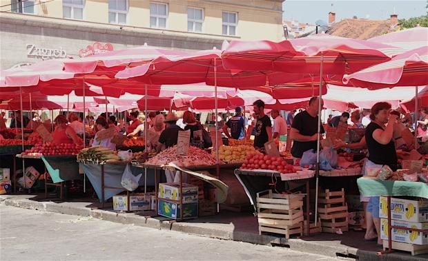 Dolac market in Zagreb