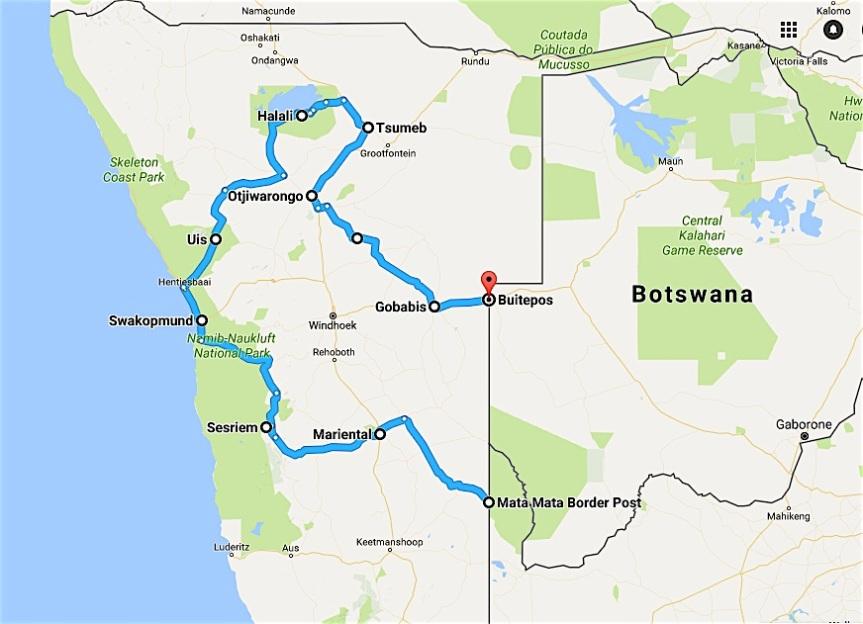 Namibie Roete